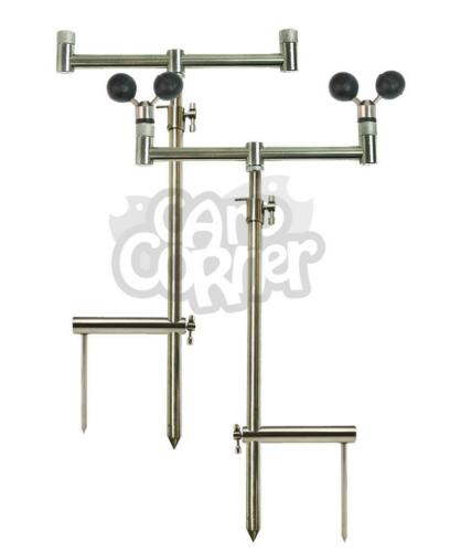 Rests /& Stabilisers Carp Fishing Stainless Steel Solid Bankstick Buzzer Bar Set