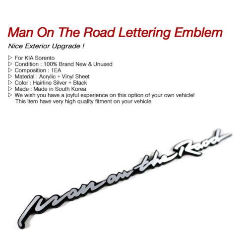 Side Trunk Man On The Road Slogan Lettering Emblem Point Badge for KIA Sorento
