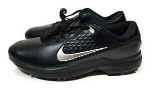 a2a06c34f9c1 Nike Air Zoom TW71 Tiger Woods Mens Golf Shoes Black Metallic Silver ...