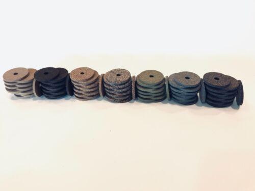 """84 anneaux 1 1//4/"""" X 1//8/"""" X 1//4/"""" Cork Rings Premium Caoutchouc Inlay Assortiment"""