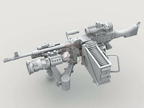 Legend 1/35 M240 Machine Gun on Vehicle Mount w/Swing Arm Var #3 (2 pcs) LF3D017