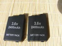 2pcs Battery for PSP SLIM & LITE PSP 2000 for PSP 2004 for PSP 3000 for PSP 3004