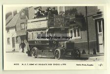 pp0091 - M.E.T Bus at Reigate Red Cross , Surrey c1915 - Pamlin postcard