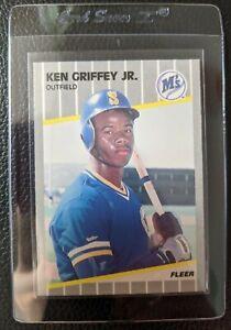 1989-FLEER-548-KEN-GRIFFEY-JR-ROOKIE-CARD-RC-SEATTLE-MARINERS-HOF