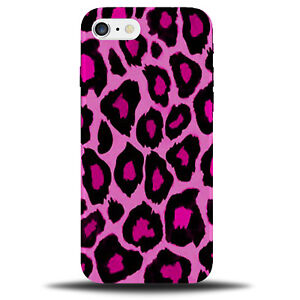 new arrival 9bf81 96df5 Details about Hot Pink Leopard Print Phone Case Cover | Design Pattern Dark  Spots Girls B986