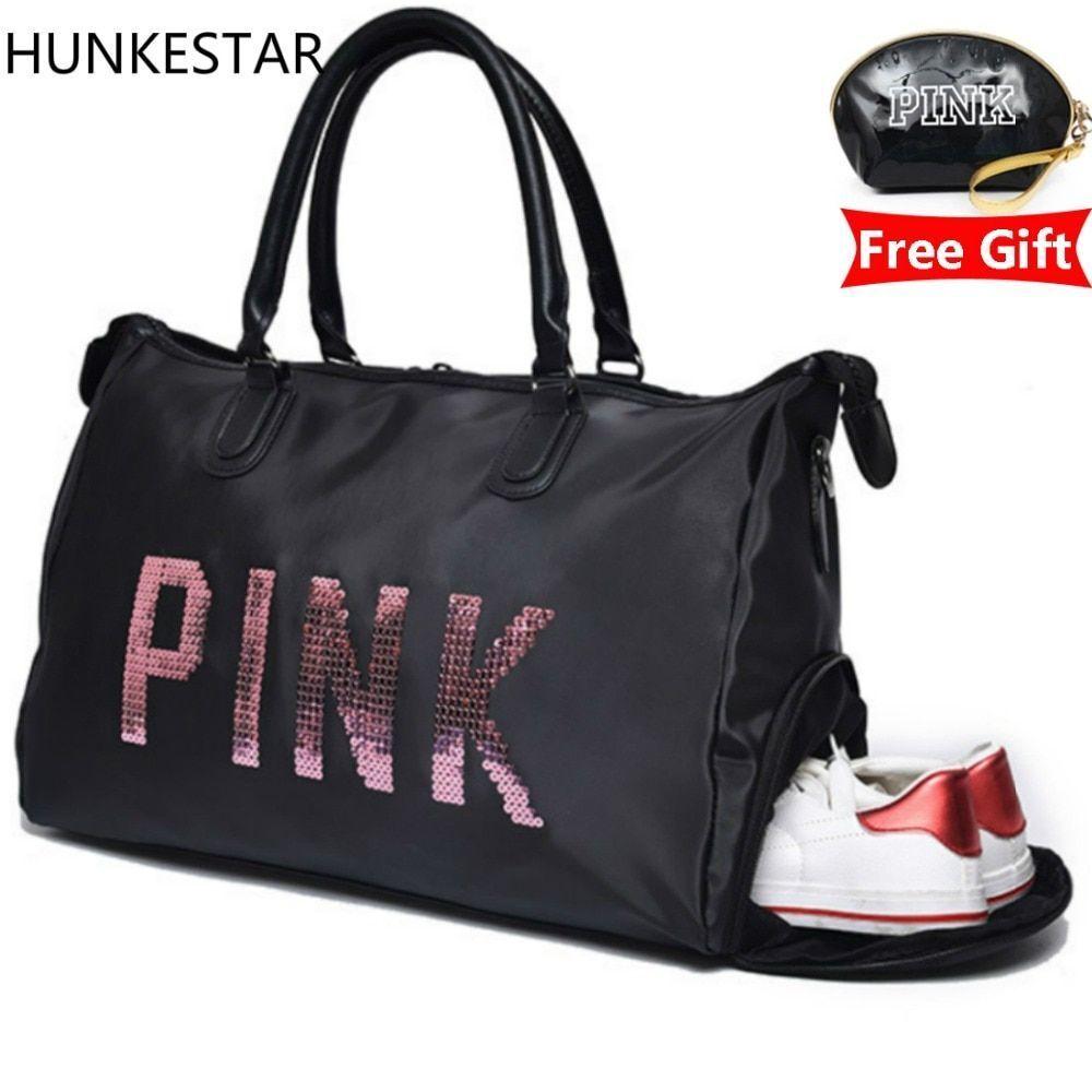 Bag Women Gym Fitness Travel Shoulder Waterproof Nylon Sports Outdoor Handbag