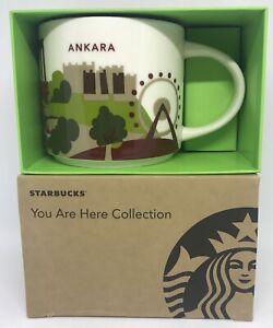 Starbucks You Are Here Collection Turquie Ankara Céramique Café Tasse Neuf À Box