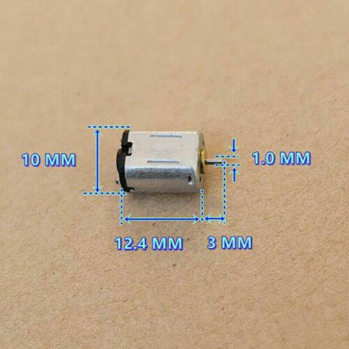 Mini FF-M10 DC1.5V-5V 3V High Speed Micro Flat 8mm*10mm Electric Motor 1mm Shaft