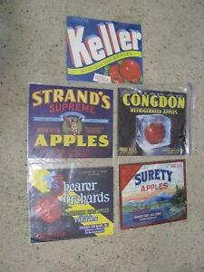 4 Original WESTERN THEMED COWBOY Vegetable MINI Crate Box Labels NOS