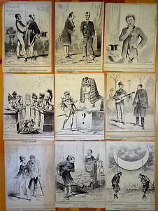 DRANER-Caricature-Lot-9-Lithographies-XIXe-Le-Charivari-Actualites-Politique-2