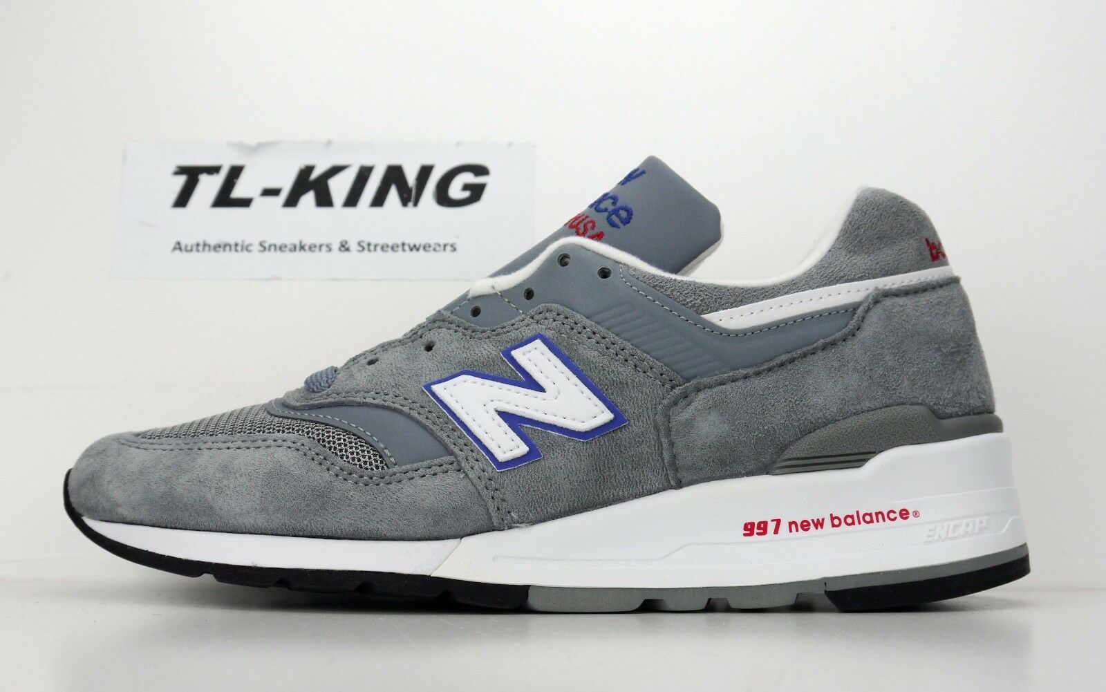 New Balance M997CNR Grey bluee Bell Made in USA Classic Sneaker Msrp  210 CN