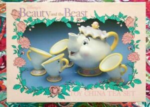 Disney-Beauty-and-The-Beast-Mrs-Potts-Teapot-and-Cup-Set-Complete-Free-Shipping