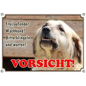 Bouclier de chien - Panneau d'avertissement Sarplaninac en qualité photo résistant aux intempéries