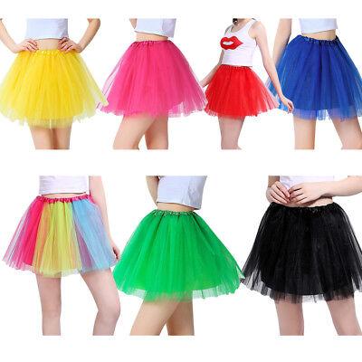 Women Girl Princess Tulle Tutu Skirt Adult Kids Ballet Dance Party Mini Dress US