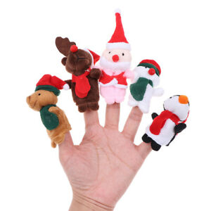 5Pcs-set-Christmas-Theme-Character-Finger-Puppets-Story-Telling-Soft-Cloth-RK