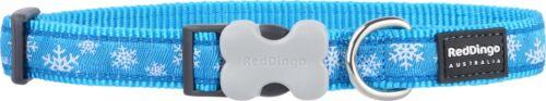 Red Dingo Christmas Puppy Dog CollarBLUE /& WHITE SnowflakesFREE P/&P