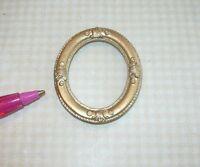 Miniature Elegant Small Oval Gold Frame 3: Dollhouse Miniatures 1/12 Scale