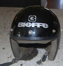 Vintage  Bieffe All Black Motor Cycle Helmet