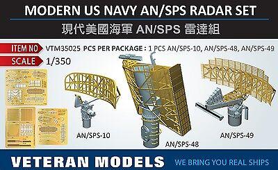 VETERAN 1//350 Modern US NAVY AN//SPG Radar set AN//SPS-10 AN//SPS-48 AN//SPS-49