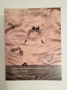 Catalogue Di Vendita Thierry Maigret Collections Tessuto E Costumi Juin2012