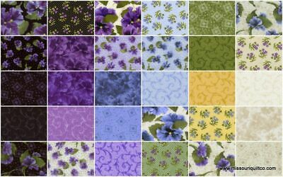 M8721 Purple Quilting Cotton By 1//2 Yd RJR//Debbie Beaves//Violet Patch//Dolce