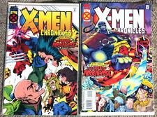 X-men Chronicles SET #1 #2 Comics Marvel Apocalypse Wolverine 1995 Ian Churchill