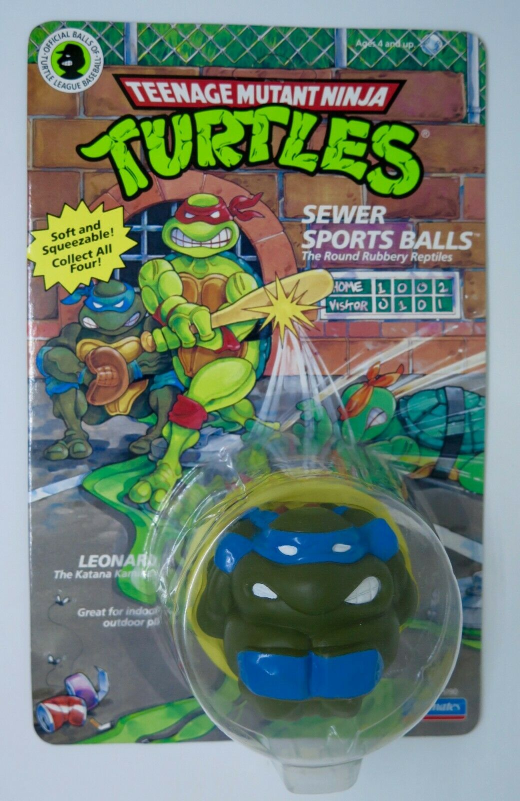 TMNT Teenage Mutant Ninja Turtles SEWER SPORT BtuttiS LEO by Playmates 1991