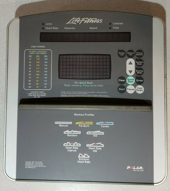 Life Fitness 95xi Elliptical Display Console AK62-00191-0001 AK62-00145-0000