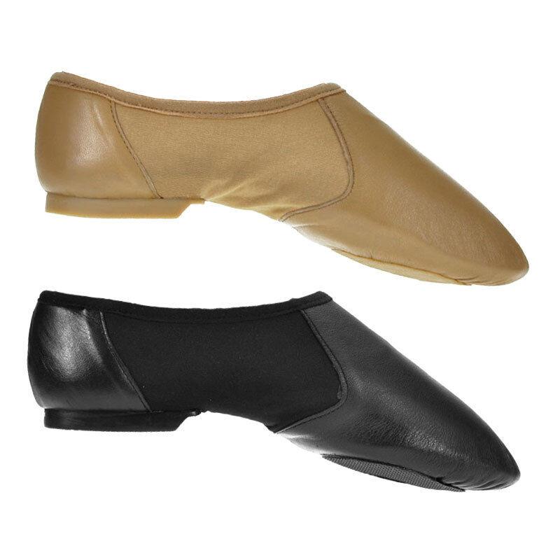Leather Slip-On Split Sole Hyper Jazz Shoes Childs 10 - Adults 8