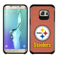 Samsung Galaxy S6 Edge Plus 5.7 Pittsburgh Steelers Pebble Grain Feel Case