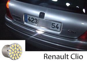 1-ampoule-a-LED-eclairage-lumiere-feux-de-plaque-Renault-Clio-2-phase-1-et-2