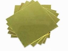 1pcs 100x100x3 Mm Brass Metal Sheet Plate 100mm X 100mm X 3mm Cut Sheet