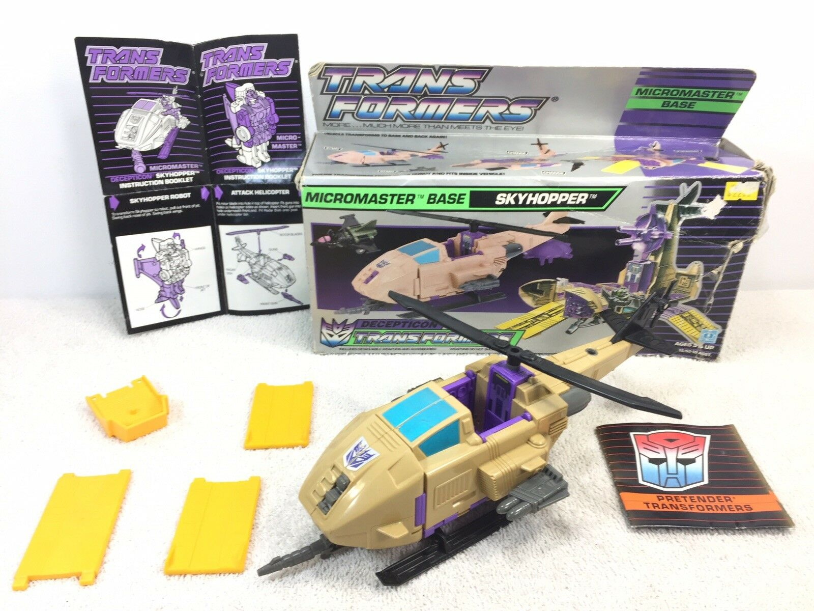 1989 Hasbro Transformers G1 Micromaster cielohopper scatola Instructions not completare