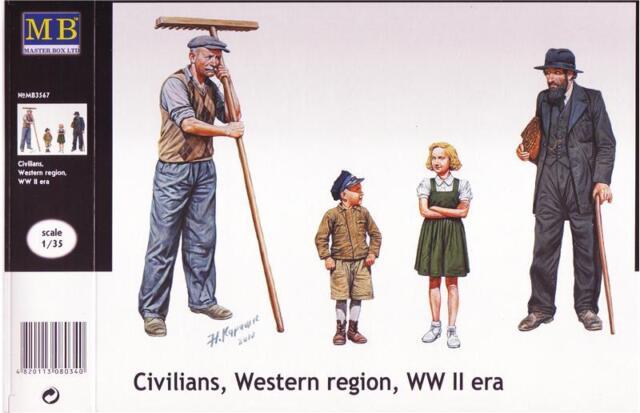 "Master Box #3567, 1/35 ""Civilians, Western region, WWII era"""