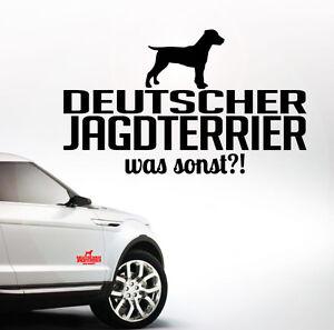 Details Zu Awilws Auto Aufkleber Deutscher Jagdterrier Was Sonst Hund Wilsigns Siviwonder