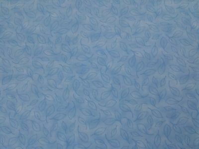 "Lot = 31"" Midnight by Studio 8 Quilting Treasures Tonal Blue Leaf Print in 2 pcs"