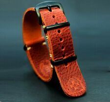 Leather Watch Strap,ZULU Band Vinatge style Leather Handmade,18,20,22,24 mm gift