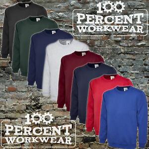 Uneek-Quality-Heavyweight-Sweatshirt-Sweater-Jumper-50-50-Polycotton-Work-Wear