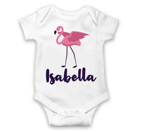 Personalised Baby Grow Vest Bodysuit Boys Girls Name Funny Baby Shower Gift 48