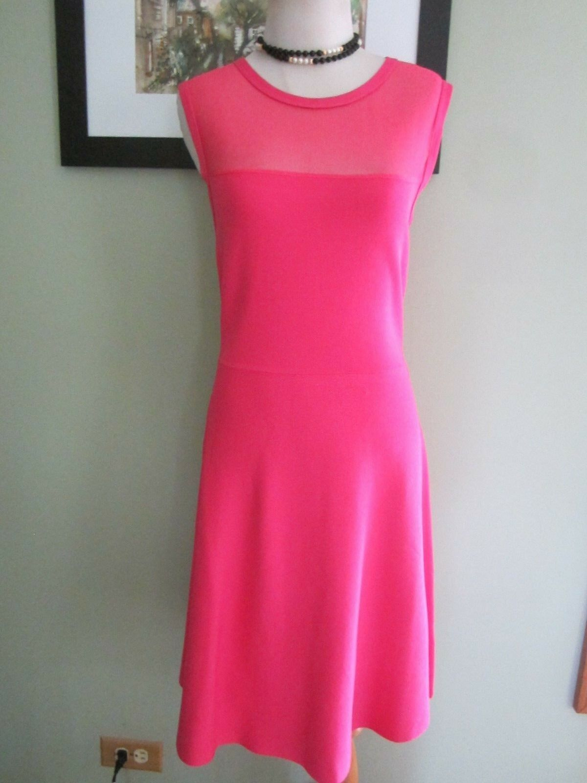 LINE Hot Pink Sleeveless Sumer Dress Size L