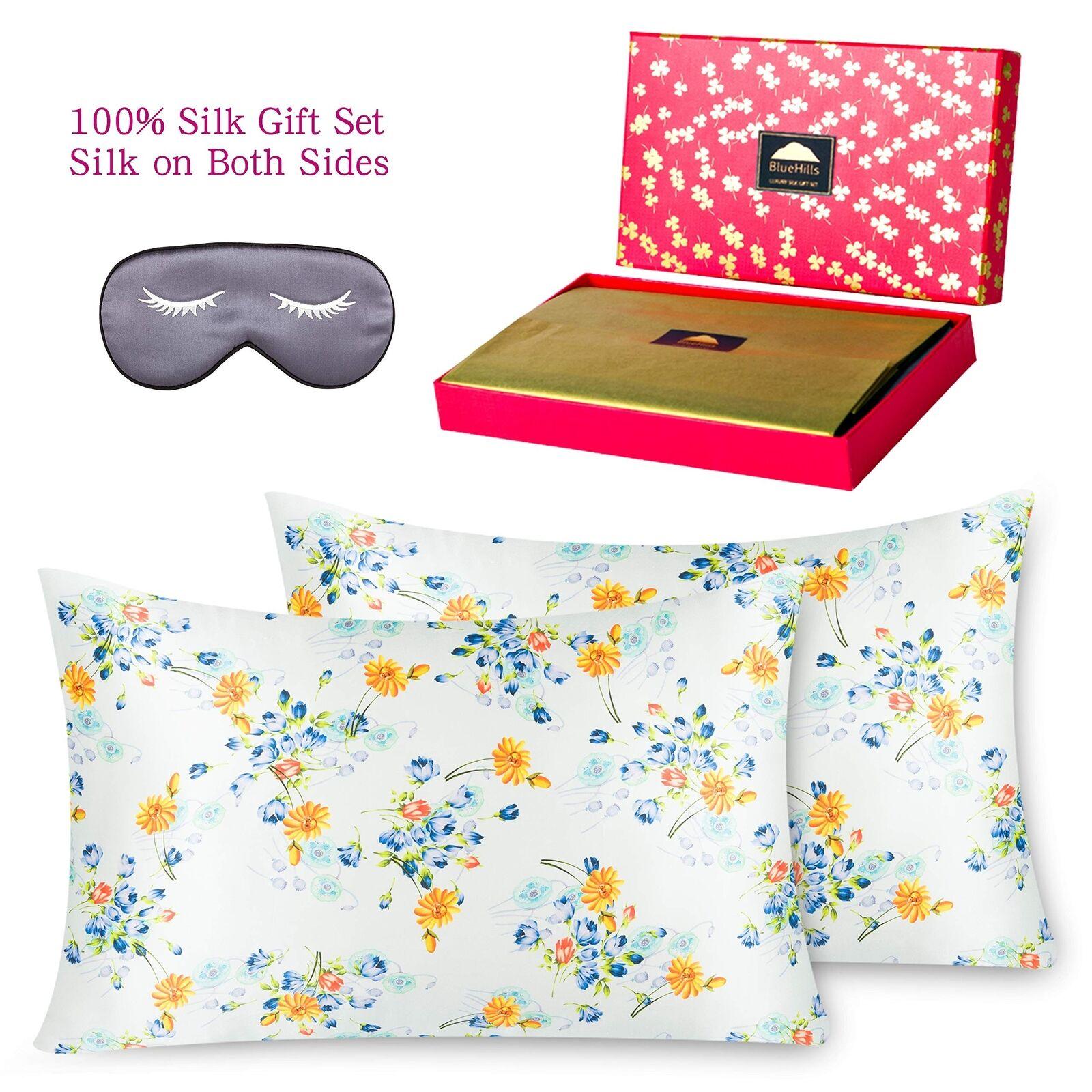 100% Pure Mulberry Both Sides Silk Pillowcase  Queen Größe design pattern