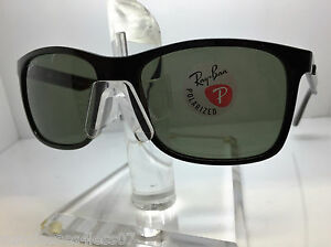 503637cc51 AUTHENTIC RAYBAN RB 4232 601 9A BLACK GREEN POLARIZED LENS 57MM
