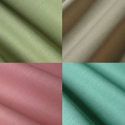 Linen Look Cotton Fabric by the Metre Plain Turquoise