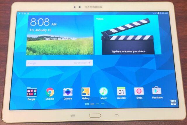 Samsung Galaxy Tab S SM-T807V 16GB, Wi-Fi + 4G, (Verizon), 10.5 inch - White