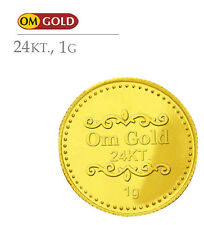 Om Gold 1 gm 24k(995) Purity Gold Coin