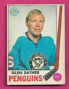 1969-70-OPC-116-PENGUINS-GLEN-SATHER-VG-CARD-INV-C4060