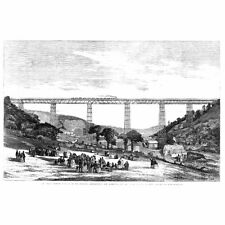 CAERPHILLY The Great Crumlin Viaduct - Antique Print 1857