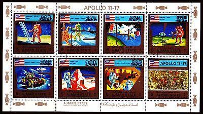 Ajman 1973 Vfu Mi.2669/76 A Weltraum Space Apollo Raumfahrt Briefmarken