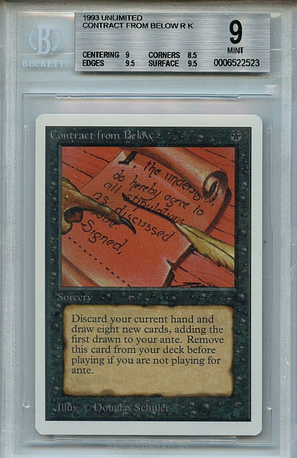 MTG Unlimited Unlimited Unlimited Contract From Below BGS 9.0 (9) Mint Card WOTC 2523 535404