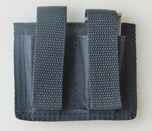 Black-Double-Magazine-Pouch-for-Ruger-LCP-amp-S-amp-W-Bodyguard-380-Pistols